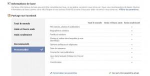parametre facebook
