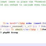 Réparer une Parse error cache phpbb
