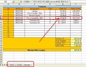 Fonction RECHERCHEVsur Excel