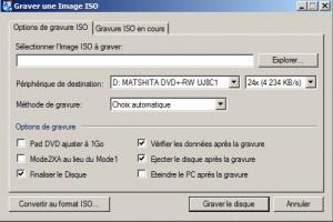 CdBurnerXp choix ISO