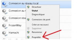 propriete carte reseau