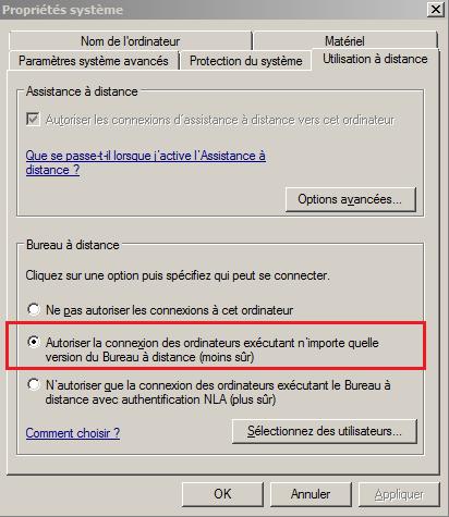 Utiliser une connexion de bureau distant laintimes - Activer le bureau a distance windows 7 ...