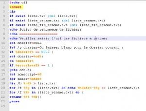 script renomage batch