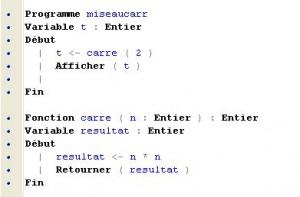 fonction algorithmique