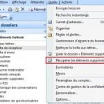 Récupérer et restaurer des Mails suprimés dans Microsoft Outlook