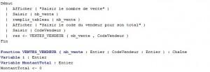 type structure et fonction et procedure en algorithmique