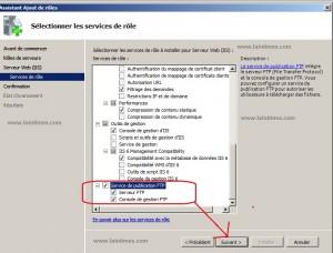 3 ajout rôle FTP et serveur web IIS sur windows serveur