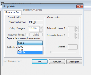 proprietes video format de flux virtualdub