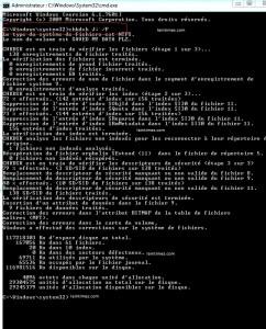 reparation du lecteur avec chkdsk