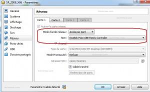 2 nom host valide virtualbox