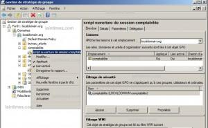 1 modification du filtrage de sécurité et appliquer la gpo