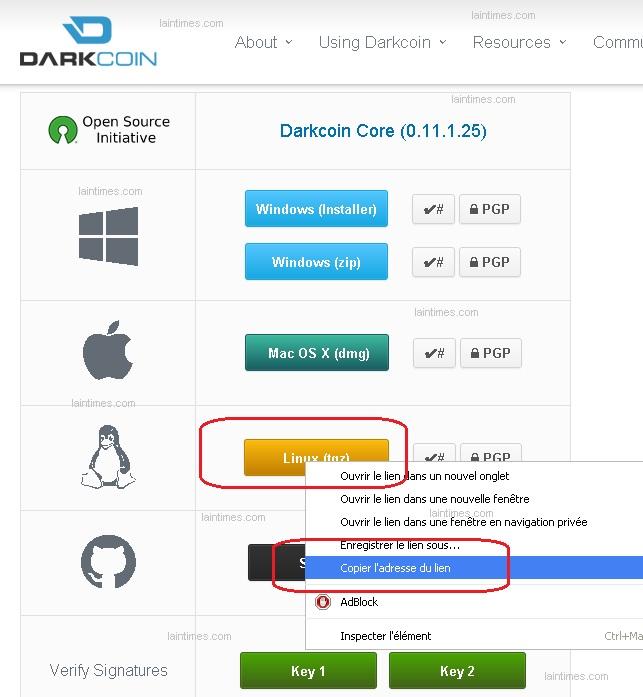 adresse wallet linux darkcoin