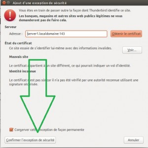 10 exception de securite ssl