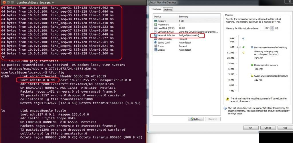 configuration ip server fog vmware