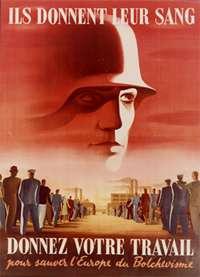 Les travailleurs du service du travail obligatoire (STO) relève les prisionniers de 1940 en Allemagne