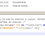 Copie de dossiers à travers le réseau – xcopy batch