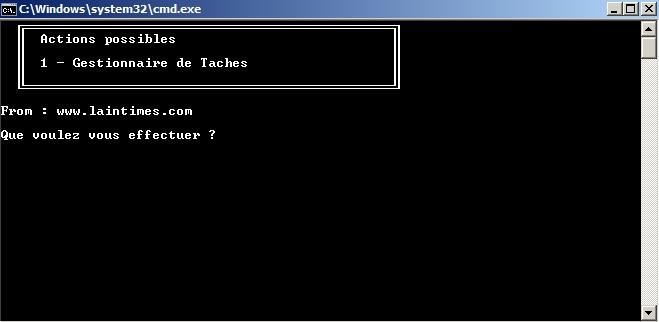 Script Batch – Gestionnaire de Taches